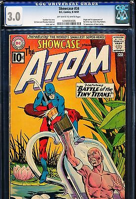 SHOWCASE #34 CGC 3.0 Origin & 1st SA Atom (Ray Palmer)! 1961