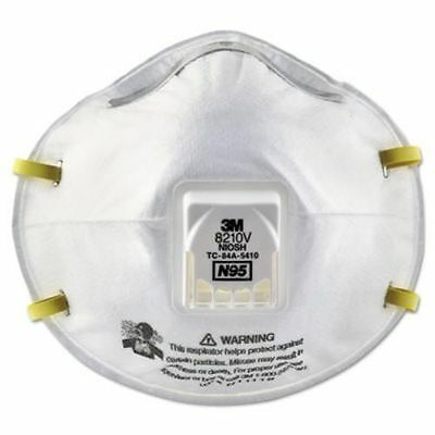 5 Masks - 3M  8210V Particulate Respirator, N95 Respiratory Protection