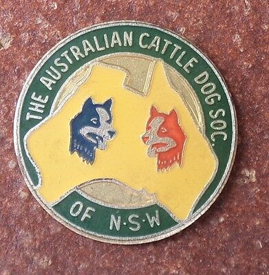 The Australian Cattle Dog Society Of Nsw Badge