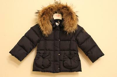 BNWT Il Gufo Girl Navy Down Filled Jacket 12M (Gr. 86)