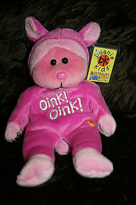 Snuffle The Pig   *retired Beanie Kid * With Tag Protector