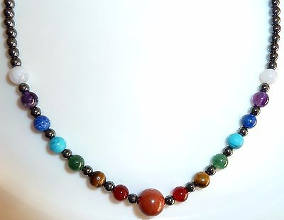 Chakra Necklace with Hematite - Chakra Balance & Healing, General Well-being