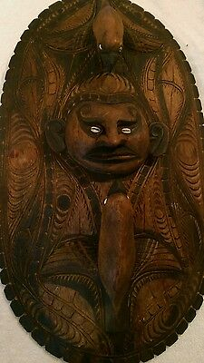 Antique Wooden Tribal Papua New Guinea Mask/Board
