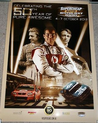 BATHURST 2012 Special 50 Years OFFICIAL POSTER *Brock*Johnson*Lowndes*