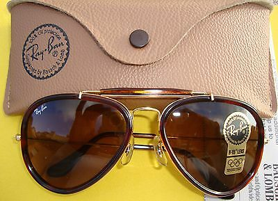 New Vintage B&l Ray Ban Traditional Stile G Tortoise Outdoorsman Aviator