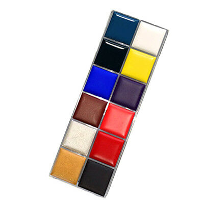 Practical 12 Colors Face Body Paint Oil Painting Art Make Up Set Party Kit New