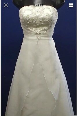 Orchid Ivory Wedding Gown Size 12-14