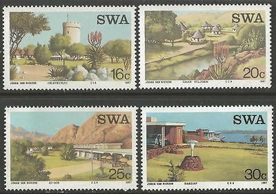 SOUTH WEST AFRICA (SWA), SC 586-589, 1987 Tourist Camps issue. MNH.