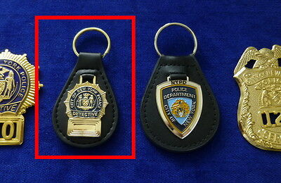 NYPD Detective leather Key Ring # no Badge