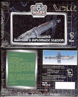 Agents of Gaming Babylon 5 Earth Mini Earth Alliance Diplomatic Station Box VG+