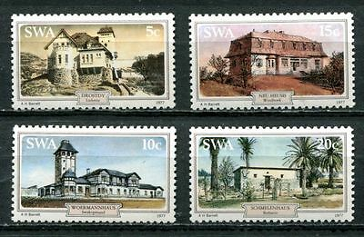 SOUTH WEST AFRICA (SWA), SC 407-410, 1977 Historic Buildings. MNH.