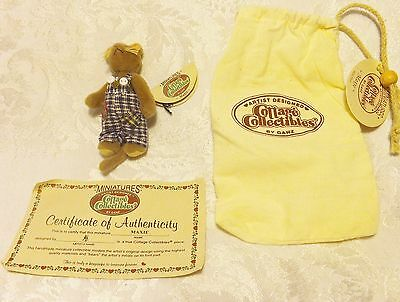 RARE Cottage Collectibles Miniatures by GANZ Teddy Bear MOUSE- MAXIE - Jointed