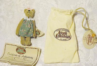 Cottage Collectibles Miniatures by GANZ Teddy Bear  KELLY  Minature Jointed 1