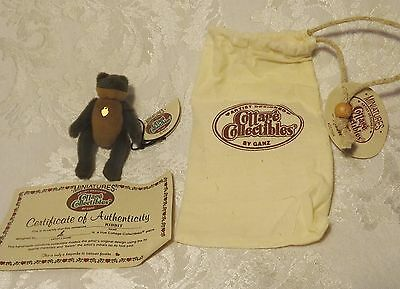RARE Cottage Collectibles Miniatures by GANZ Teddy Bear FROG - RIBBIT - Jointed