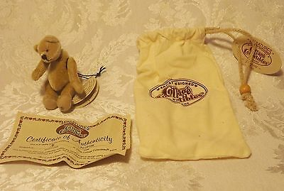 Cottage Collectibles Miniatures by GANZ Teddy Bear  FLOPSIE  Minature Jointed 1