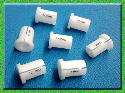 7 Pool CUE Lathe COLLET ~ Cuemaker Set ~ Delrin SHAFT 12 -13.50 mm Collets NEW