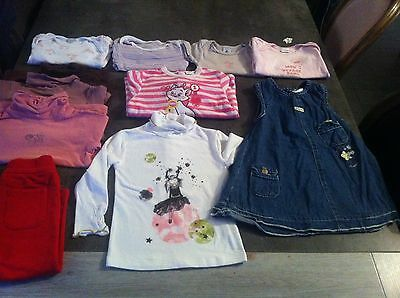 lot vetements bebe fille taille 18-24 mois hiver. BE
