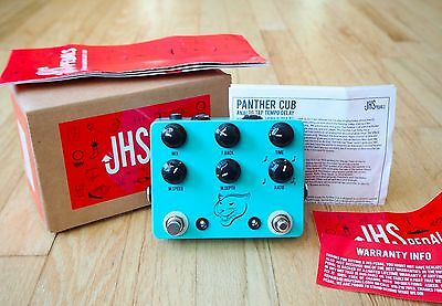 JHS Panther Cub Analog Tap Tempo Delay Guitar Effects Pedal Mint w/ Box