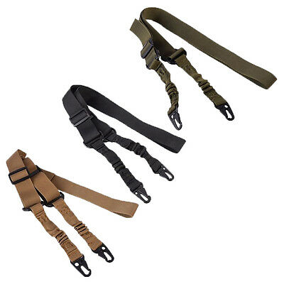 Adjustable Hunting 2 Two Point Rifle Sling Bungee Tactical Shotgun  Strap System