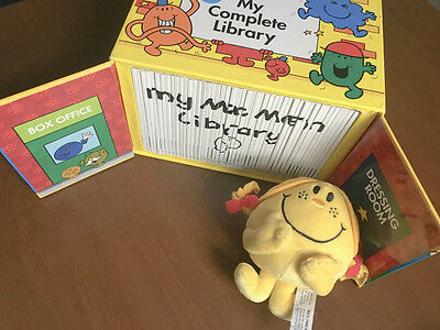 Huge Mr Men Complete Library 47X Book Set with a Plush by Roger Hargreaves