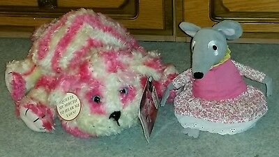 """Bagpuss approx 12"""" with tag and Lizzie Mouse 7"""" Plush Soft toy"""