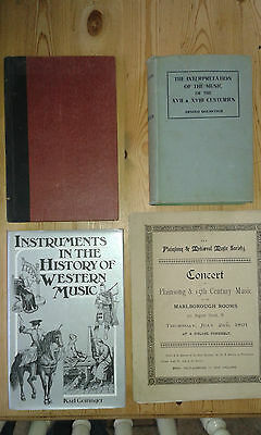 Dolmetsch The Interpretation of Music plus FIVE rare subject related texts
