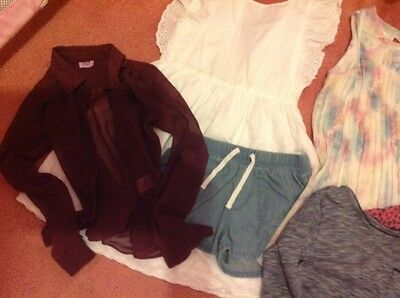 Girls age 6-7 years trendy clothes bundle. Next,Gap ect.
