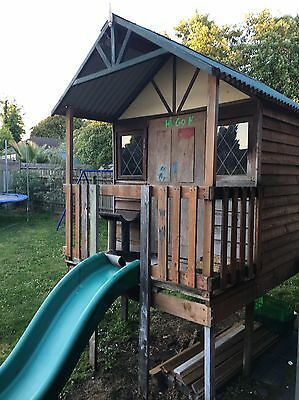 Cubby House With Slide