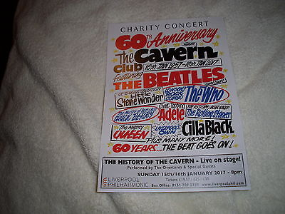 Charity Concert 60Th Anniversary Of The Cavern Club 2017 Promo Flyer/leaflet
