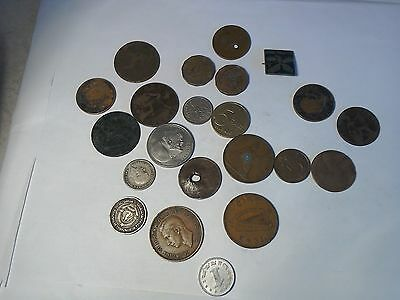 4. coin lot with at least 1 silver coin