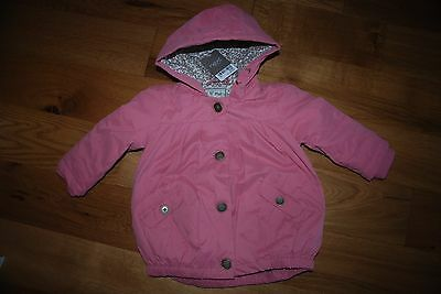 RRP £ 28 BNWT NEXT 2-3 years girl PINK JACKET WITH FLORAL AND FUR LINING