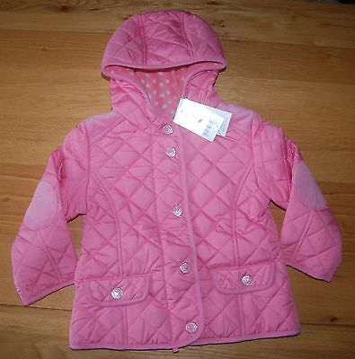 RRP £ 25 BNWT NEXT 2-3 years GIRLS pink quilted jacket*coat*fleece lining!!