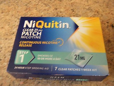 NiQuitin Clear 21mg Patch Nicotine Step 1 - 7 Patches EXP 10/2018.. FREE POST