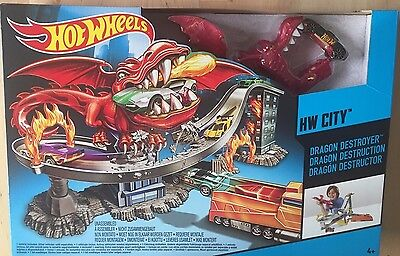 Hot Wheels City Dragon Destroyer Track Set