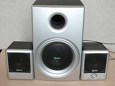 eAudio PC 2.1 speakers with Subwoofer