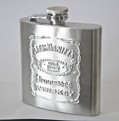 FLASQUE / FLASK whisky image JACK DANIEL'S inox contenance 5 oz (150 ml)