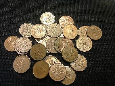 1950-1989 Canada Cents 1 from each year 40 DIFFERENT Canadian. Pennies