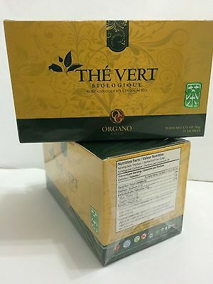 2 boxes Organo Gold Green Tea  with Ganoderma Lucidum (Sealed) Exp 09/2017