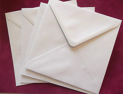 "50 x 16.5cm x 16.5cm - 165mm (6.5""x 6.5"") Large Square White Envelopes"