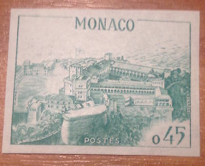 Monaco 1960 MNH Imperforated Color proof