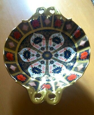 """ROYAL CROWN DERBY IMARI 1128 DUCHESS TRAY. Solid Gold Band 2nd MMVI  9"""" Fluted"""