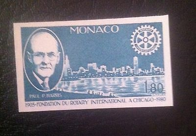 Monaco 1980 MNH Rotary Imperforated Color proof