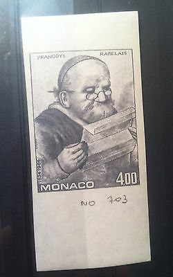 Monaco 1984 MNH Rabelais Imperforated Color proof