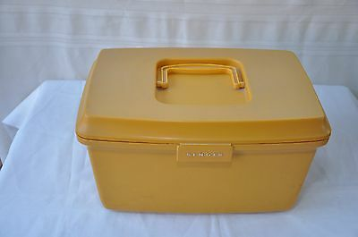 Vintage Retro Singer Sewing Box Mustard/tan Colour Pickup Sydney