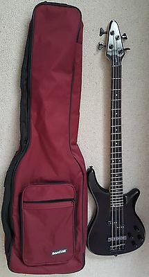 Rebel 4 string Bass Guitar with case