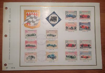 Monaco 1966  Grand Prix complete set on presentation sheet Rare
