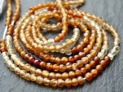 "*CLEARANCE*  2 STRINGS x 2.5mm HESSONITE GARNET ROUNDS, 13.5"" strand, 145 beads"