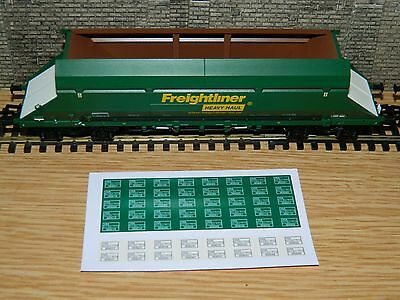 Alternative numbers Decals for Dapol HIA Freightliner Hopper Wagon OO Gauge