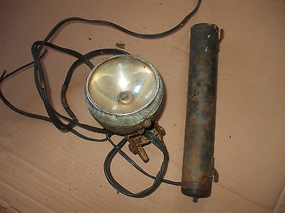 vintage sturmey archer dry battery and light  bsa triumph raleigh humber rudge