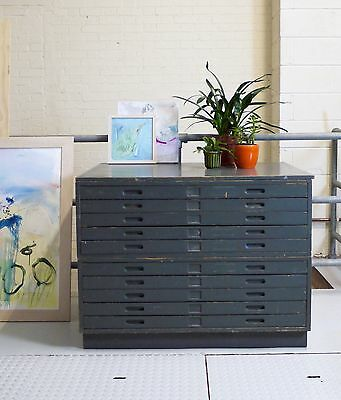 Original mid century vintage A1 Panelled Plan chest of drawers - Studio
